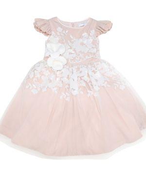 Кружевное платье - розовое Monnalisa