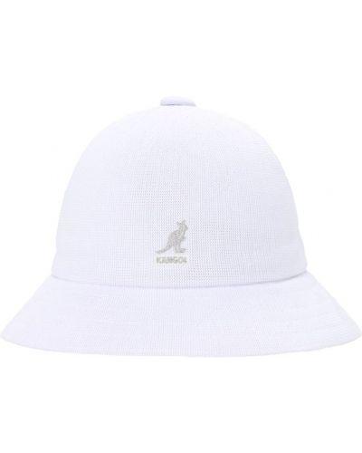 Biały kapelusz z haftem na co dzień Kangol