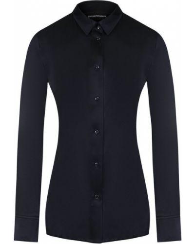 Блузка приталенная шелковая Emporio Armani