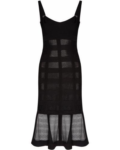 Платье с декольте на тонких бретелях Alexander Mcqueen