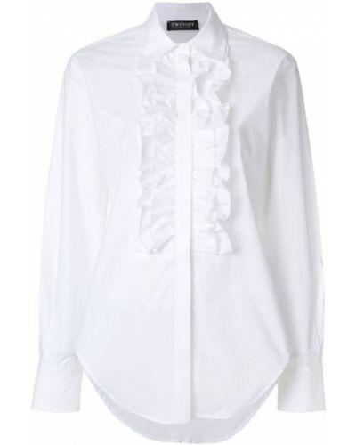 Классическая рубашка с оборками с длинным рукавом Twin-set