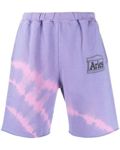 Ватные фиолетовые хлопковые шорты Aries