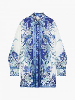 Шелковая рубашка - синяя Zimmermann