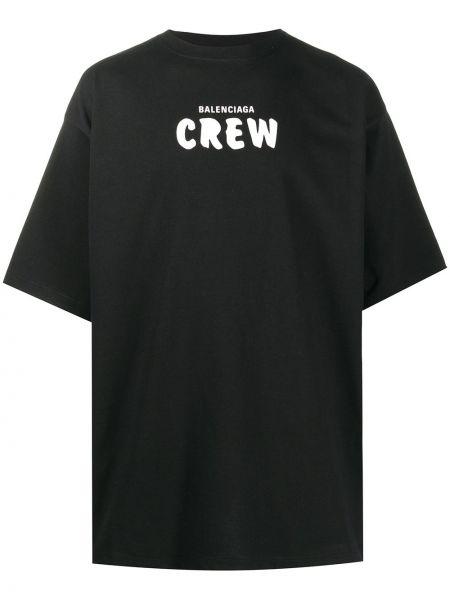 Z koszulką bawełna koszula z logo niski wzrost Balenciaga