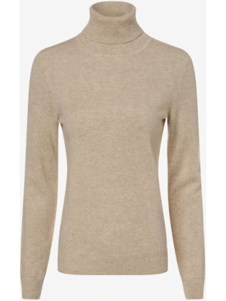 Beżowy z kaszmiru sweter Franco Callegari