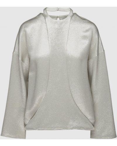 Серебряная блузка Valentino