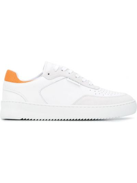 Biały skórzany sneakersy perforowany zasznurować Filling Pieces