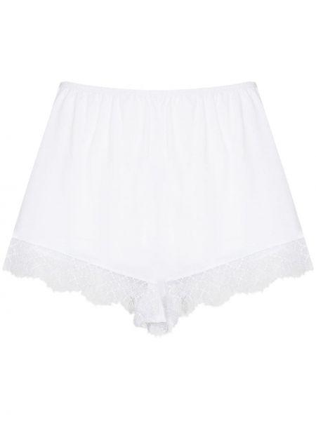 Кружевные хлопковые белые шорты Skin