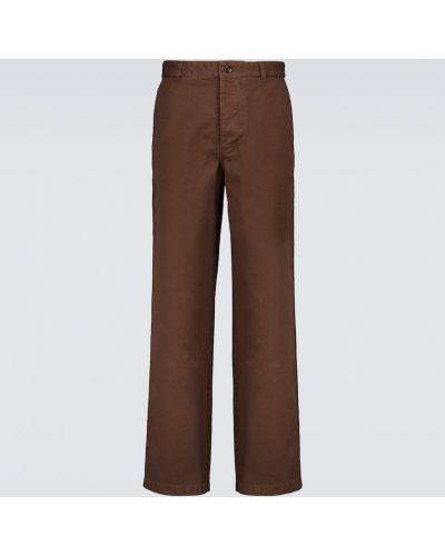 Spodnie bawełniane - brązowe Acne Studios