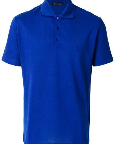 Синяя рубашка Versace
