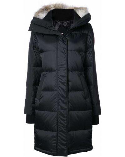 Пальто с капюшоном дутое пуховое Canada Goose