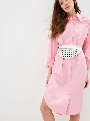 Платье розовое платье-рубашка Silvian Heach