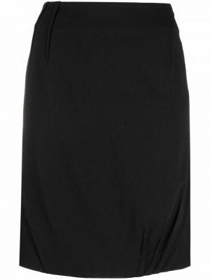 Czarna spódnica ołówkowa wełniana Christian Dior