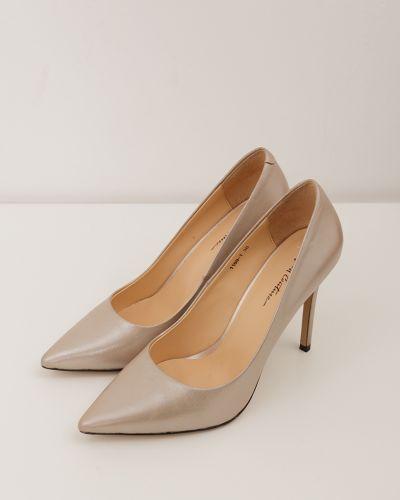 Кожаные туфли-лодочки на каблуке на высоком каблуке Just Couture