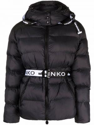 Куртка с капюшоном - черная Pinko