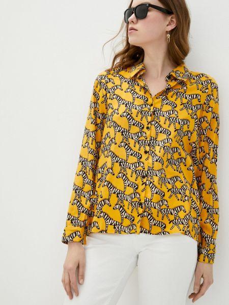 Блузка с длинным рукавом весенний желтый Compania Fantastica