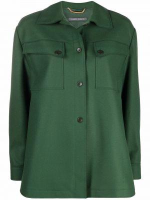 Зеленая шерстяная рубашка Alberta Ferretti