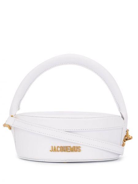 Кожаная сумка сумка-тоут с логотипом Jacquemus