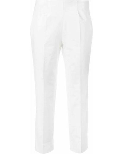 Укороченные брюки белые красный Piazza Sempione