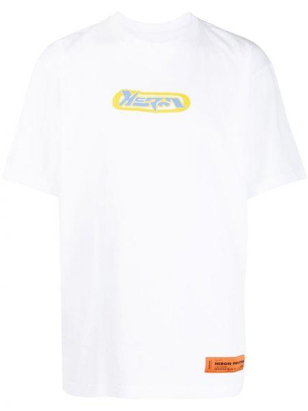 Bawełna biały bawełna koszula krótkie z krótkim rękawem krótkie rękawy Heron Preston