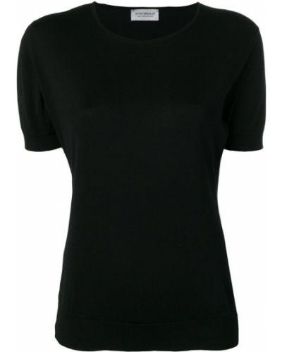 Футбольная черная футболка John Smedley