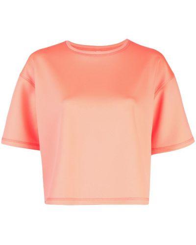 Футбольная розовая футболка со стразами со спущенными плечами The Celect