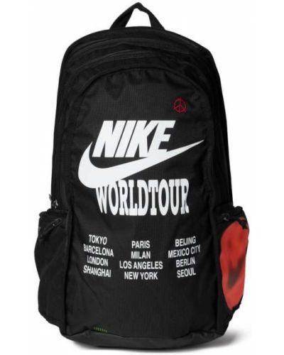 Czarny plecak w paski na rzepy Nike