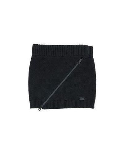 Черный шарф Emporio Armani