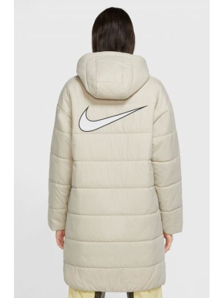 Утепленная бежевая куртка на молнии Nike