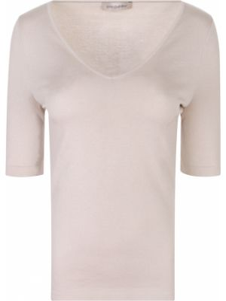 Футбольная приталенная базовая футболка с V-образным вырезом Gentryportofino