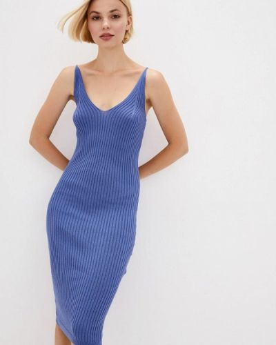 Синее прямое платье Nataclub