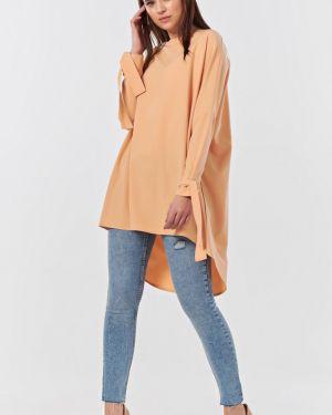 Блузка летучая мышь со спущенными плечами на молнии с карманами Fly