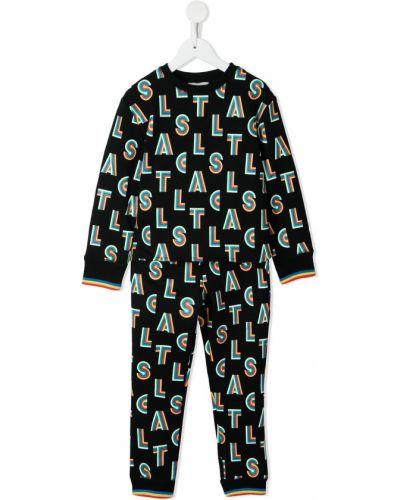 Czarny dres z printem Stella Mccartney Kids