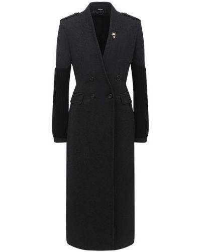 Шерстяное серое пальто с подкладкой Isabel Benenato