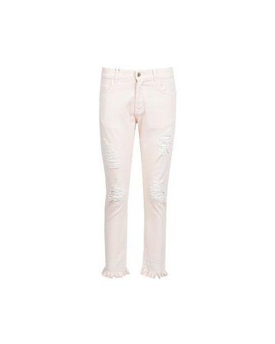 Джинсовые зауженные джинсы - розовые Marco Bologna