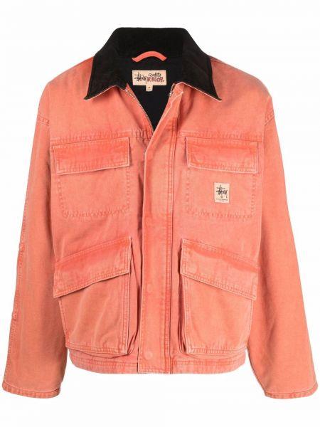 Длинная куртка - оранжевая Stussy