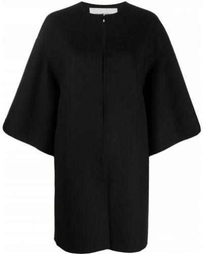 Кашемировый черный кейп с драпировкой Valentino