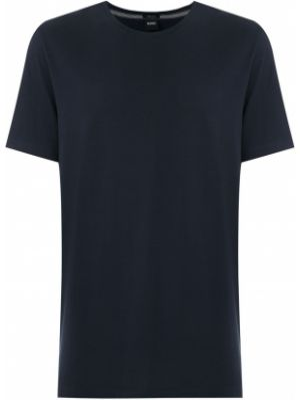 Хлопковая футболка - синяя Boss Hugo Boss
