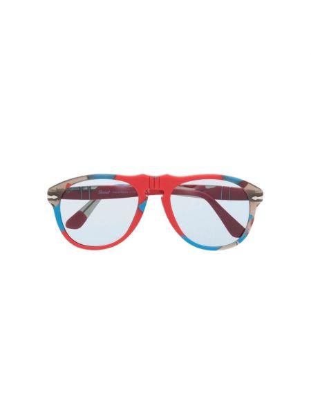 Czerwone okulary Persol