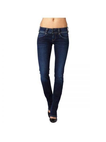 Джинсы-скинни прямые с поясом Pepe Jeans
