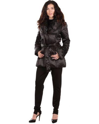 Черная куртка с вышивкой с воротником Gf Ferre