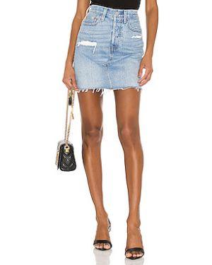 Хлопковая джинсовая юбка с карманами на пуговицах Levi's®