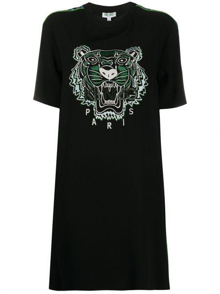 Платье мини с вышивкой футболка Kenzo