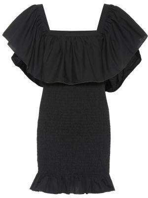 Платье мини в полоску с оборками Solid & Striped