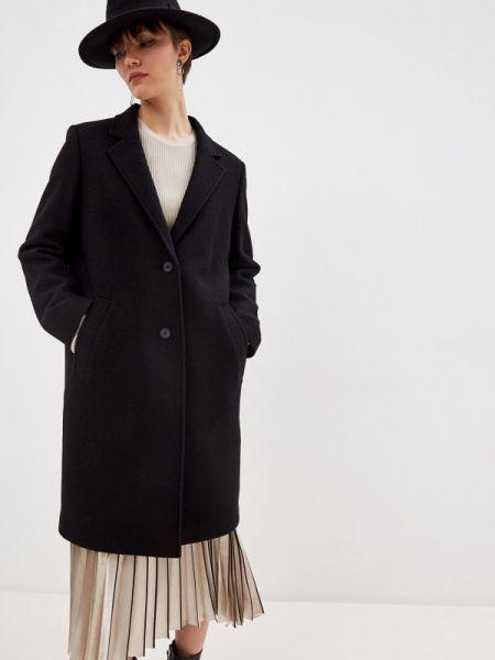 Черное пальто с капюшоном Boss