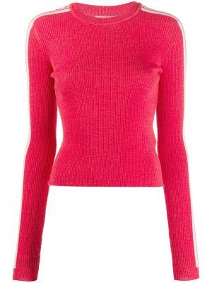 Prążkowany sweter wełniany z długimi rękawami Fiorucci