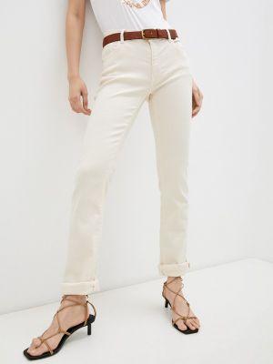 Бежевые брюки повседневные Trussardi