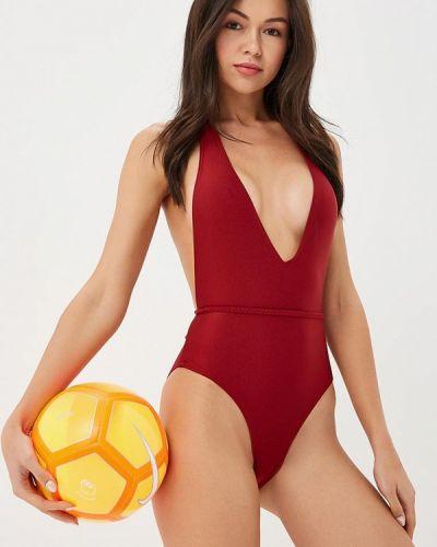 Слитный купальник бордовый красный South Beach
