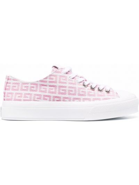 Buty sportowe skorzane - białe Givenchy
