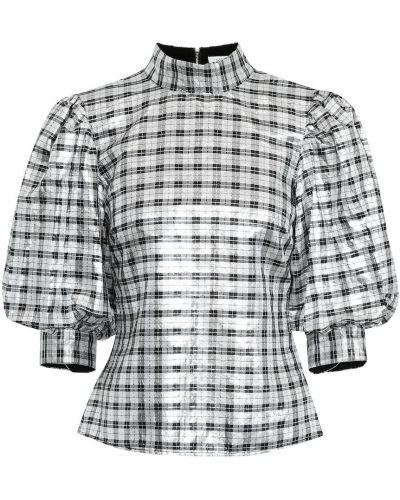 Блузка с люрексом батник Ganni